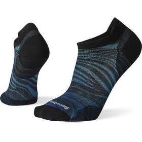 Smartwool PhD Run Ultra Light Wave Print Micro Socken alpine blue